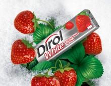Dirol Strawberry + Whitening