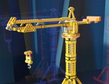 3D: Кран LEGO