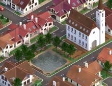 3D: Невелике містечко у ізометрії